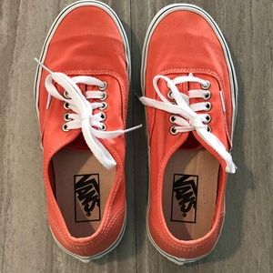Vans orange sneakers Unisex Mens 6.5/ Womens 8